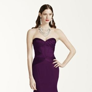 Truly Zac Posen Satin Fit and Flare Dress